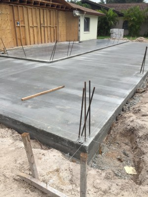 Concrete poured.