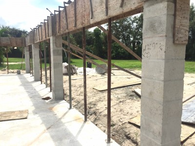 Concrete poured and ready for second story.
