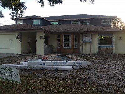 Bay window done, getting ready for stucco