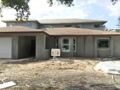 Stucco on house remodel done