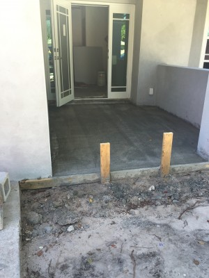 New cement poured.