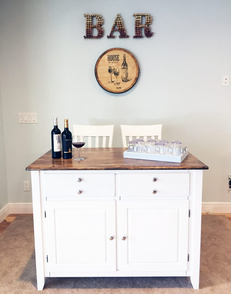 DIY Wine Cork BAR sign