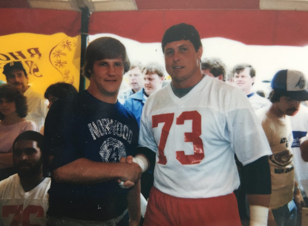 Chris and John Hannah (Patriots, Offensive Guard), 1984