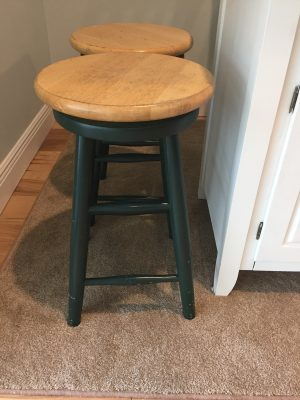 Refinished Bar Stools, Before