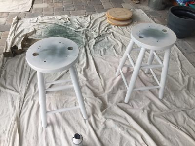 Spray Painting the Legs