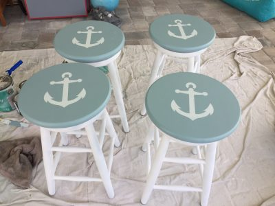 Refinished Bar Stools, After