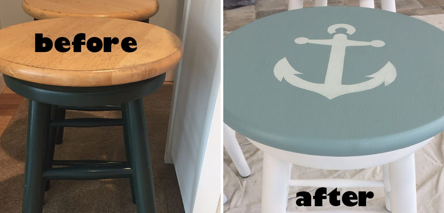Refinishing Bar Stools to Look New Again - the House house