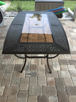 Our Old Outdoor Dining Table