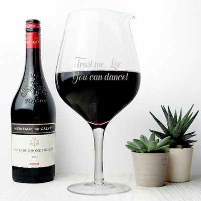 Personalized JUMBO Wine Glass, Starting at $36.32