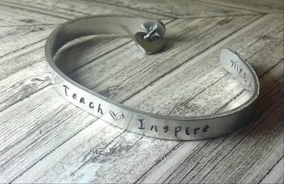 Love. Teach. Inspire bracelet, $10.00 and up