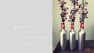 DIY Easy Wine Bottle Craft