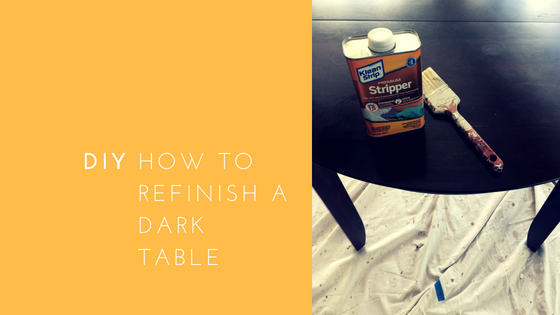 How to Refinish a Dark Wood Table