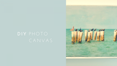 DIY Photo Canvas on the Cheap