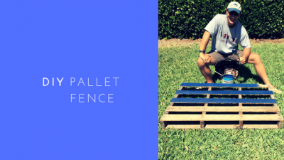 DIY Pallet Flag Fence