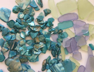 DIY Sea glass window project