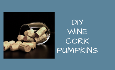 DIY Wine Cork Pumpkins