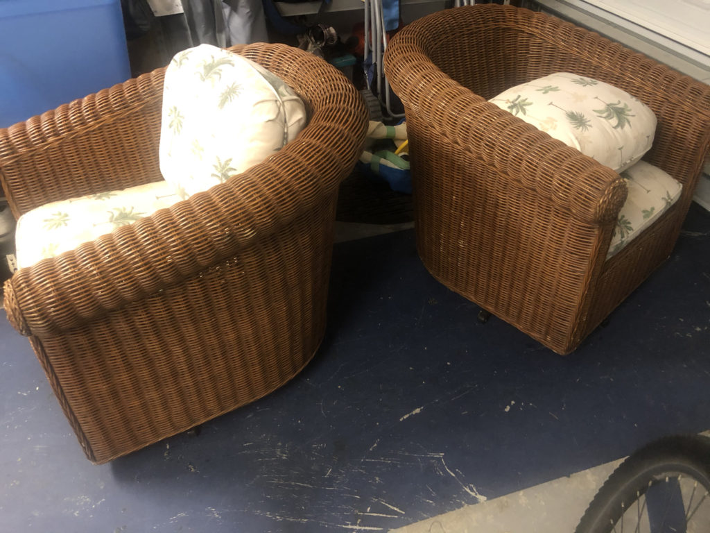Wicker Chairs Makeover