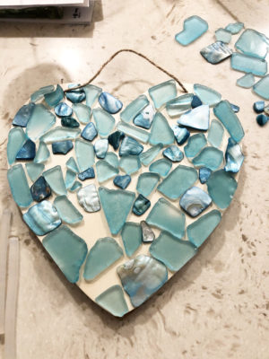 DIY Sea Glass Heart