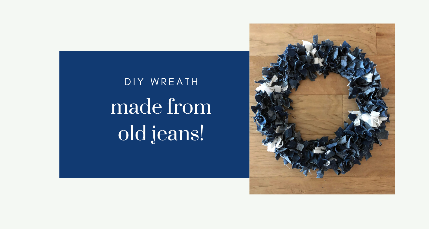 DIY Wreath Old Jeans