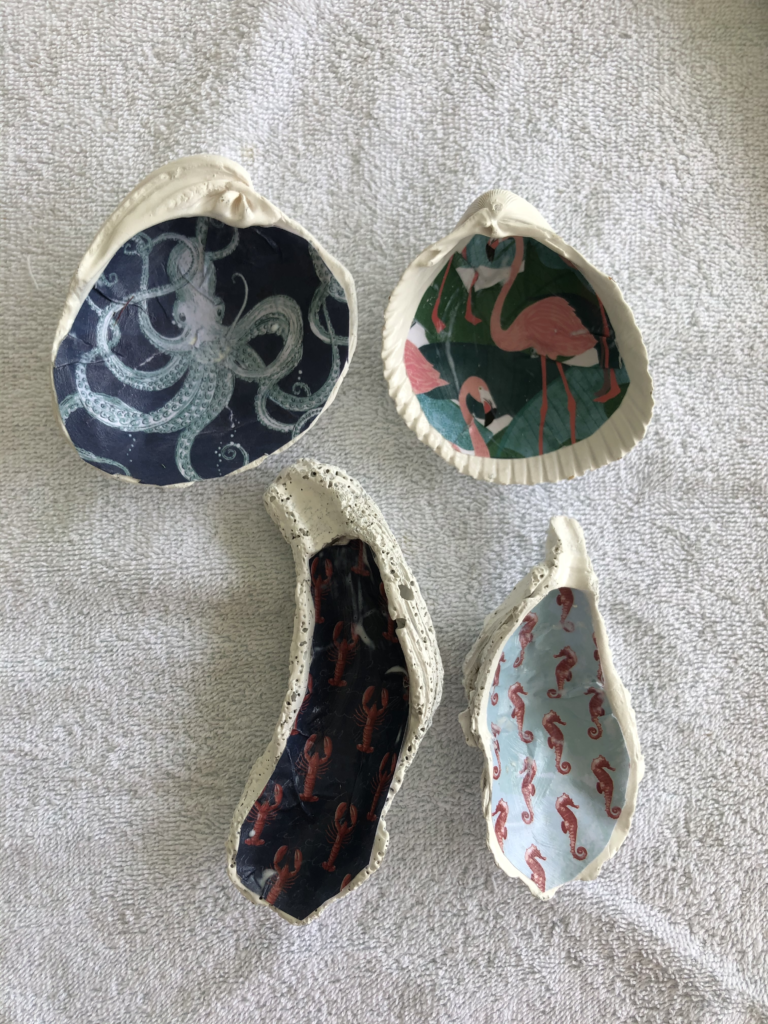 How to Decoupage Oyster Shells