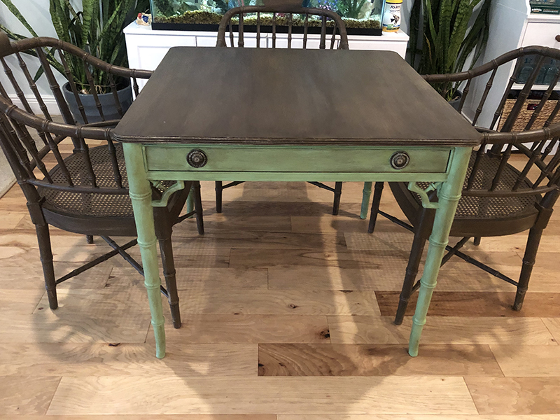 Thrift Store Challenge - Tropical Card Table
