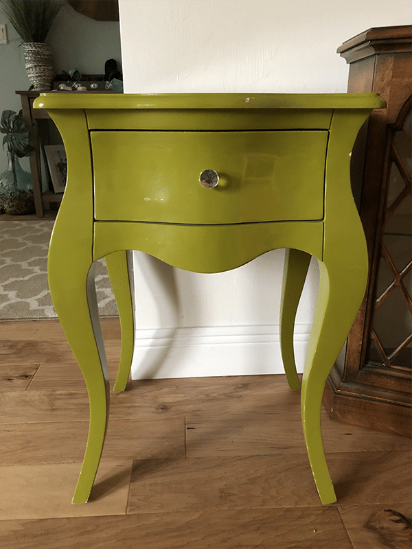Thrift Store Challenge - Green End Table